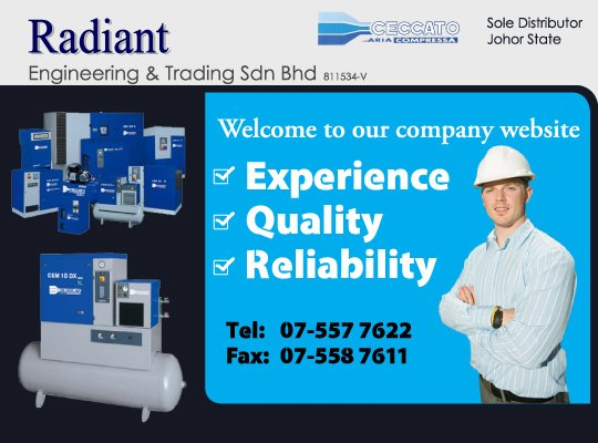 Radiance And Engineering Services : Radiant engineering trading sdn bhd in johor bahru jb