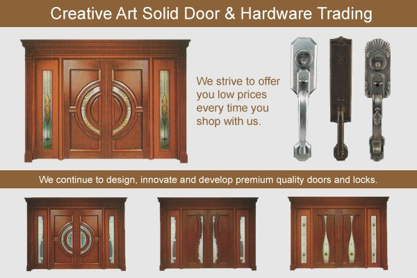 Creative art solid door hardware trading in taman for Door design johor bahru