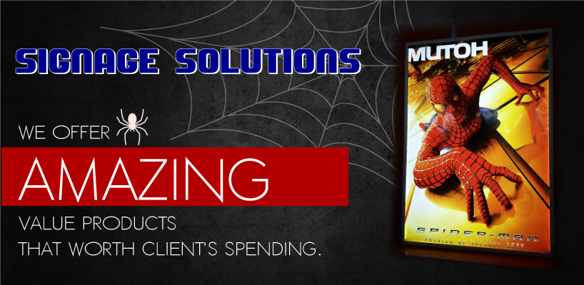 Spiderman Sign & Marketing