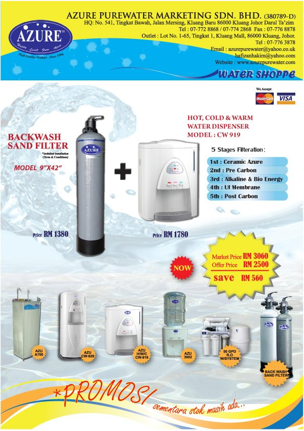 "KATALOG PROMOSI CW 919 & 9""X42"" SAND BACK WASH FILTER"