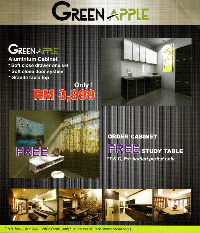 Nice aluminium cabinet promotion green home interior for House interior design johor