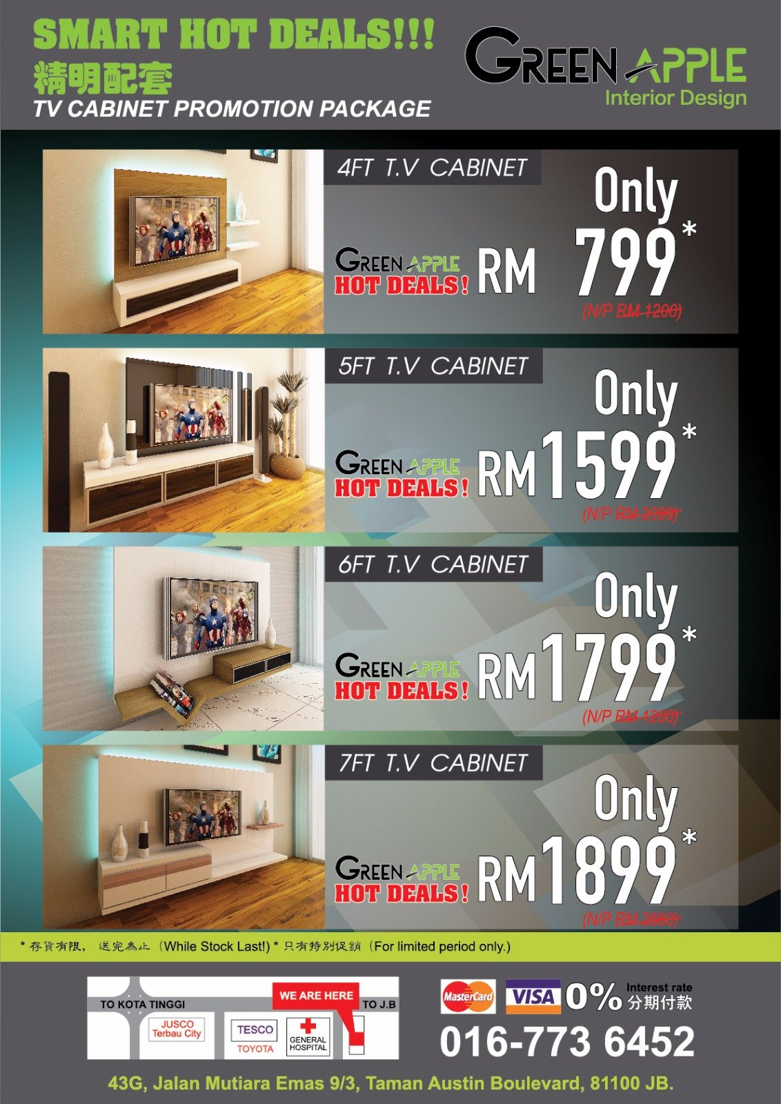 kitchen cabinet promotion tv cabinet promotion green home interior design johor 2693