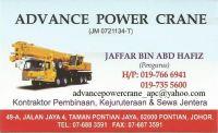 ADVANCE POWER CRANE PONTIAN