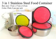 3 in 1 Stainless Steel Food Container