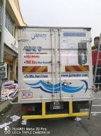 Turck lorry sticker inkjet printing and mactac die cut stiker