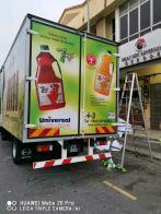 Sun-up Universal Truck lorry inkjet sticker warping at klang Kuala Lumpur