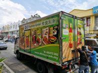 Ahimsa Lorry truck box inkjet sticker at klang
