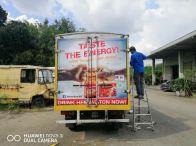 Truck box lorry sticker full warping still sticker in Kuala Lumpur and klang