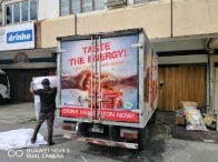 Tempo scan truck lorry sticker at kuala Lumpur