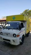 Ik Yellow Truck Lorry warping inkjet sticker at Kuala Lumpur