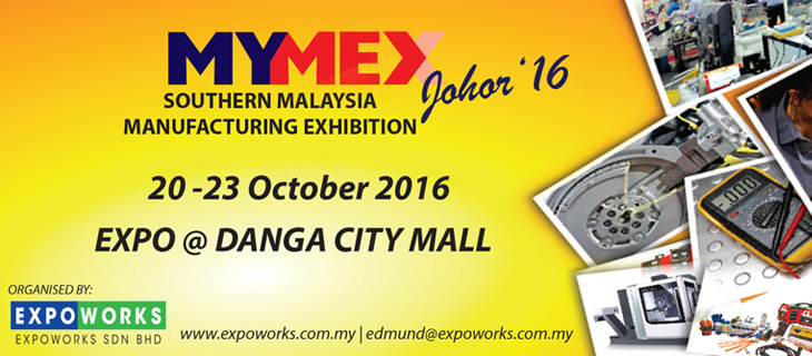 MYMEX 2016 at Danga City Mall 20-23 Oct, Come and Visit!