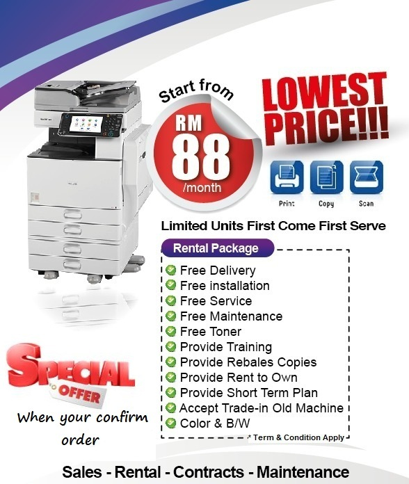 photocopy machine copy print scan rental printer scanner copier