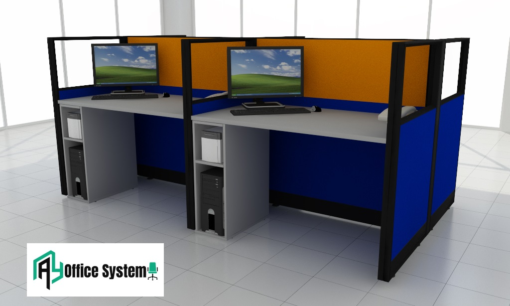 Desktop Computer Use Office Partition Workstation, AY Office System