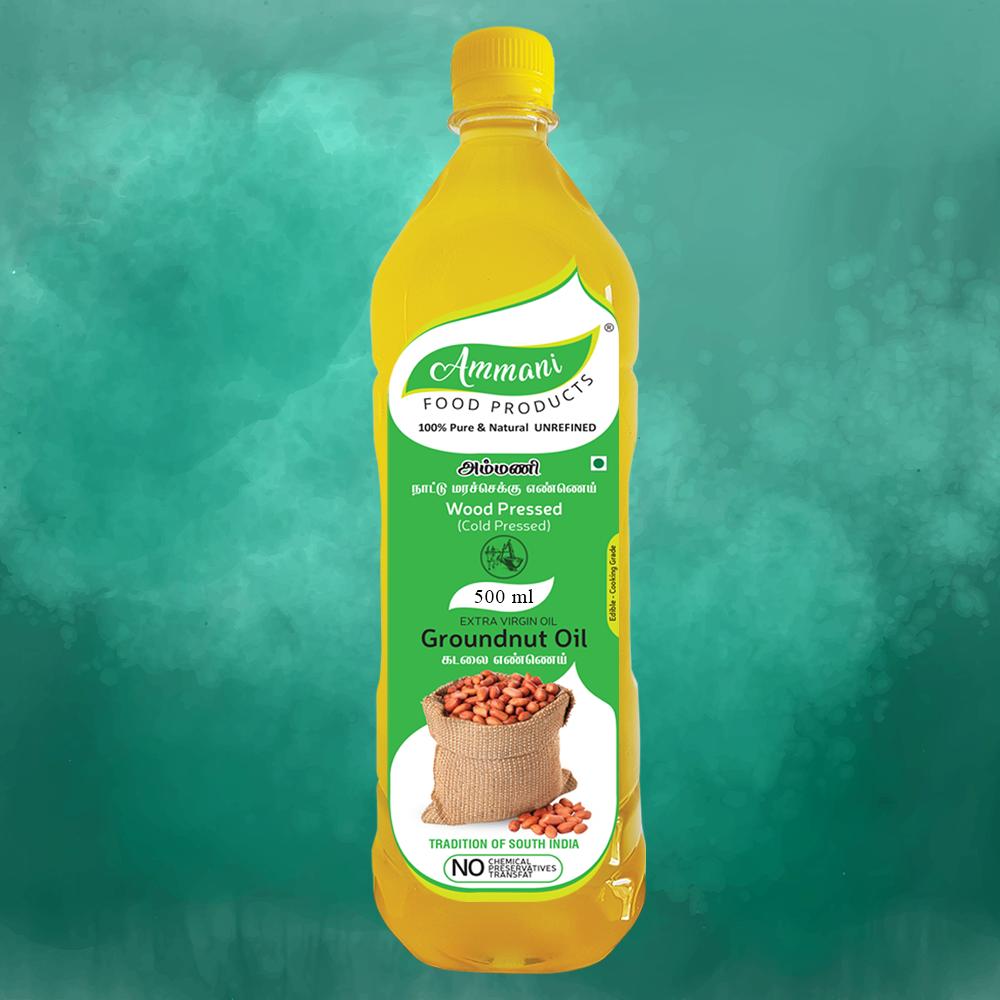 Ammani Extra Virgin Groundnut Oil (500ml)