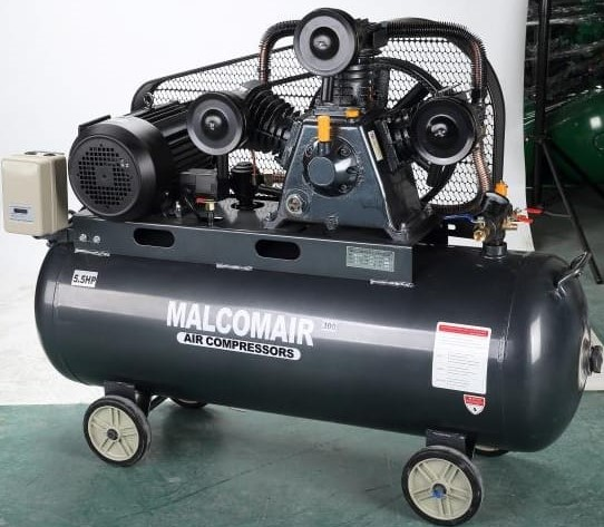 Reciprocating Piston Type Air Compressor,  low Pressure type of 110 psig.